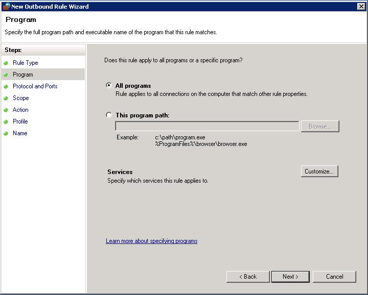 Choose client programs