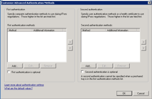 Connection security advanced method 1