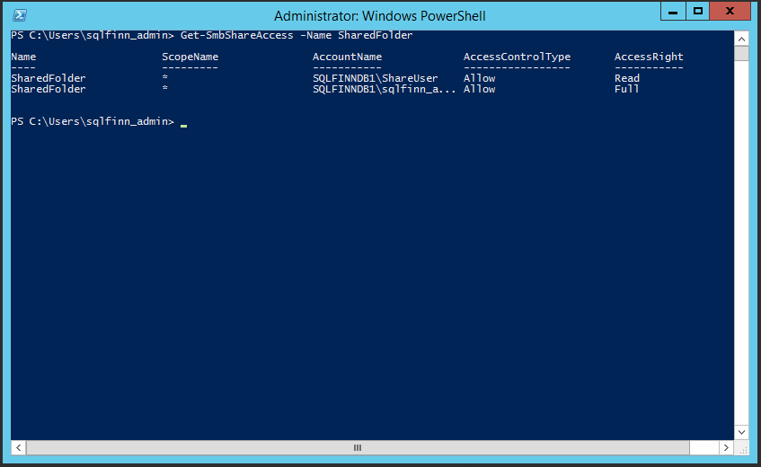 Managing shared folders in Windows Failover Cluster with